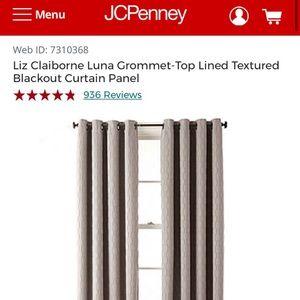 4 JCP Studio Luna Grommet Blackout Curtain Panels